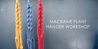 Macrame Plant Hanger Workshop (with a free gin!)