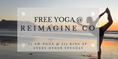 Free Yoga at Reimagine Co on Every Other Tuesday