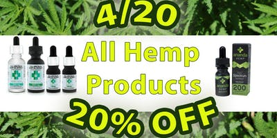 4/20----- 20% All Hemp Products