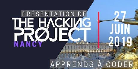 The Hacking Project Nancy été 2019 (présentation gratuite) billets