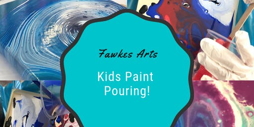 Kids Paint Pouring
