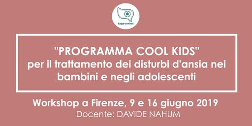 "Workshop professionale: ""Cool Kids"""