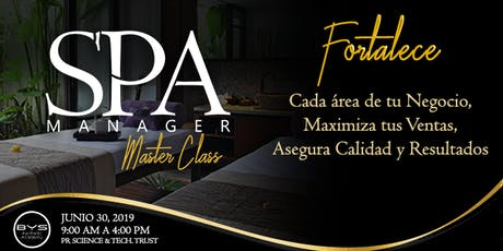 SPA MANAGER Master Class (segunda edición) tickets