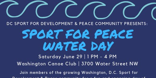 DC Sport for Development & Peace Group Water Day