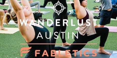 Fabletics x Wanderlust Yoga Austin   Morning Flow tickets
