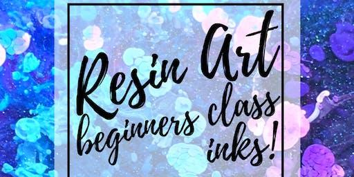 Resin Art Beginner Class - Resin and Inks!