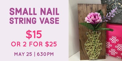 Small Nail String Flower Vase