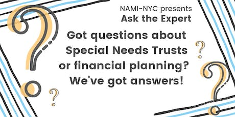 Ask the Expert: Special Needs Trusts tickets
