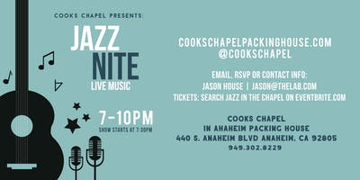 Jazz In The Chapel - Featuring: Slide FX