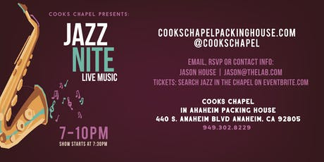 Jazz In The Chapel - Featuring: Laura Baba Big Band tickets
