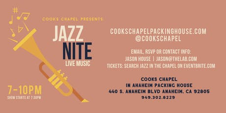 Jazz In The Chapel - Featuring: Jason Fabus tickets