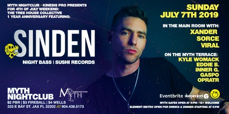 SINDEN (Night Bass) at Myth Nightclub | Sunday 07.07.19 tickets