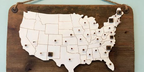 DIY Barnwood USA Travel Map  tickets
