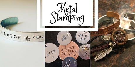 Personalized Metal Stamping- Charms and bracelets tickets