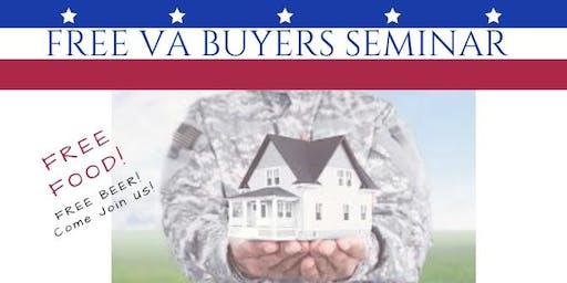 Free VA Homebuying Seminar Taught by Veterans!  Free Dinner!
