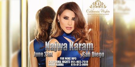 Najwa Karam LIVE in San Diego JUNE 21st tickets