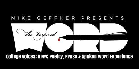 College Voices: A NYC Poetry, Prose & Spoken Word Experience tickets