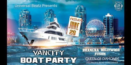 VANCITY BOAT PARTY - BHANGRA BOLLYWOOD FUSION tickets