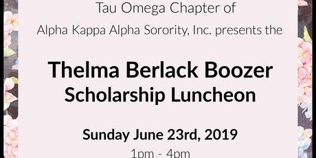 Thelma Berlack Boozer Scholarship Luncheon tickets