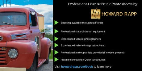 Professional Car Photoshoots in Miami tickets