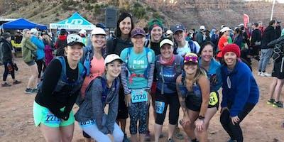 Women's fall trail running training group