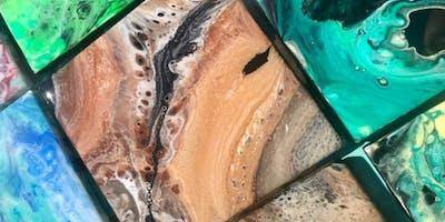 Acrylic Pour & Resin Coasters