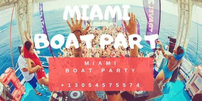 #Miami Boat Party Unlimited Drinks,Food -Jet Ski & Banana boat
