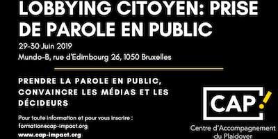 Lobbying citoyen : prise de parole en public