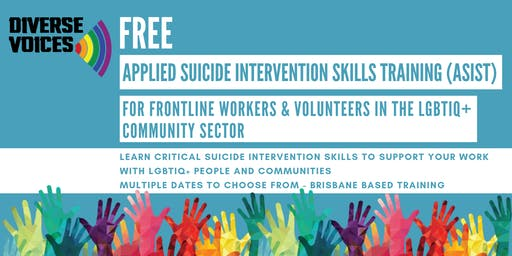 13/14th July 2019: ASIST Applied Suicide Intervention Skills Training