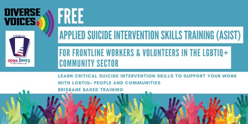 17/18th June 2019: ASIST Applied Suicide Intervention Skills Training