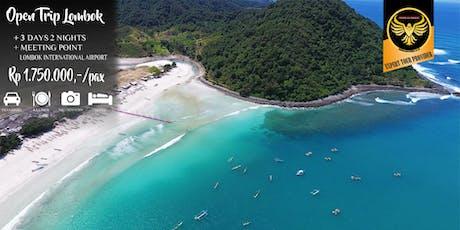 Open Trip Lombok Murah 3 Hari 2 Malam tickets