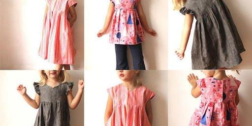 Autumn Geranium Child's Dress (Made by Rae pattern)