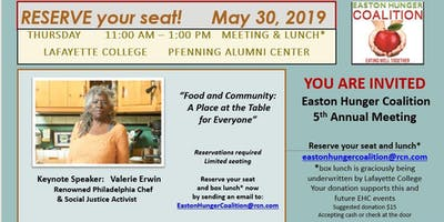 Easton Hunger Coalition 5th Annual Meeting