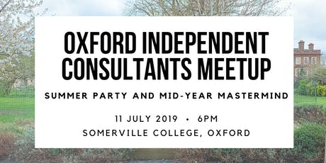 Oxford Independent Consultants Meetup 11 July tickets