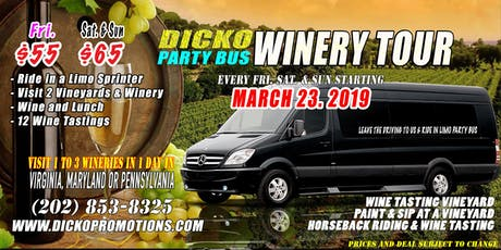 Dicko Limo Party Bus Winery Tour & Horseback Riding tickets