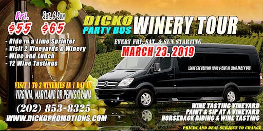 Dicko Limo Party Bus Winery Tour & Horseback Riding