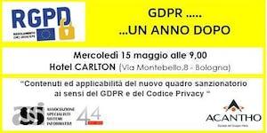 GDPR .... UN ANNO DOPO   (evento ASSI in...