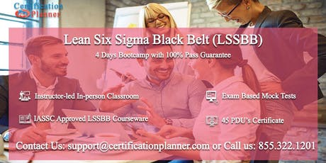Lean Six Sigma Black Belt (LSSBB) 4 Days Classroom in Palo Alto tickets
