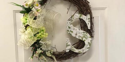 Spring Initial Wreath Workshop