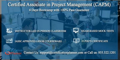 Certified Associate in Project Management (CAPM) 4-days Classroom in Charlottesville