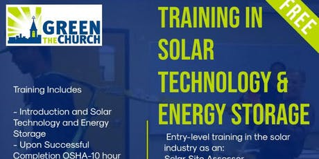 Green The Church Certified Training in Solar Technology & Energy Storage tickets