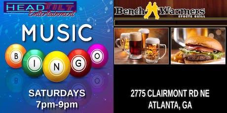 Music Bingo at Benchwarmers Sports Grill - Atlanta, GA tickets