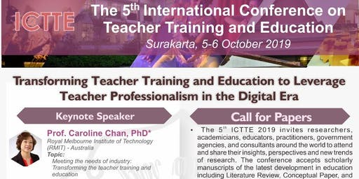 The 5th International Conference on Teacher Training and Education | ICTTE 2019