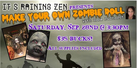 Create Your Own Zombie Doll with Rose Fulhorst - September Class tickets