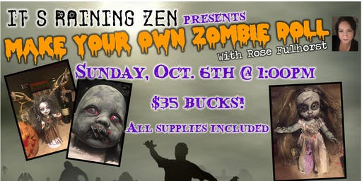 Create Your Own Zombie Doll with Rose Fulhorst October Class