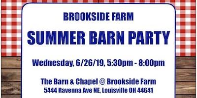 Brookside Farm 2019 Summer Barn Party