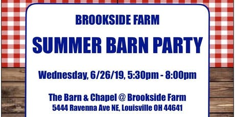 Brookside Farm 2019 Summer Barn Party tickets