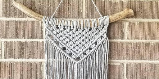 Macrame Wall Hanging Workshop at Lambstone Cellars Winery