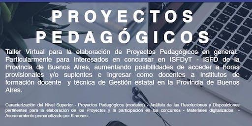 Taller online de armado de Proyectos Pedagógicos para concursar en ISFDyT