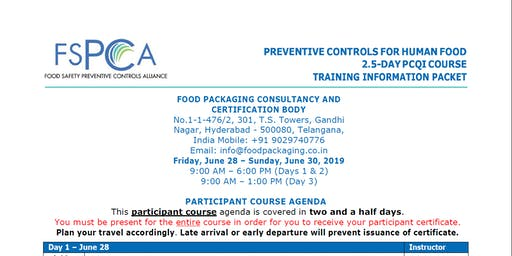"""PREVENTIVE CONTROLS FOR HUMAN FOOD"""